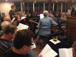 Rehearsing with the San Fernando Valley Master Chorale in Feb of 2015