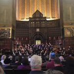 Orchestra & Choir performing